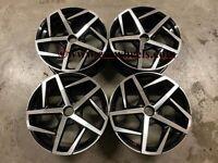 "18"" x4 Golf Dallas Style Alloy Wheels Gloss Black Machined VW MK5 MK6 MK7 MK8"