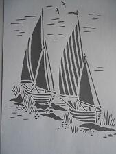 Schablone Boote auf A4