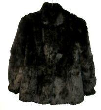 Vtg Mademoiselle Black Rabbit Fur Coat
