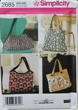 SIMPLICITY 2685 HANDBAG TOTE SHOULDER  BAG PATTERN NEW