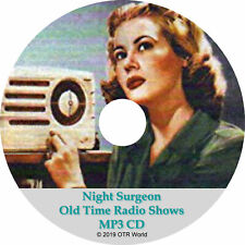 Night Surgeon Old Time Radio Shows OTR OTRS 4 Episodes MP3 CD-R