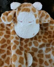 "*Angel Dear* cream tan Nunu giraffe soft baby lovey security blanket 14""x14"" VGC"