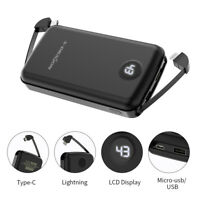 500000mAh LCD Built-in USB Portable Power Bank External Battery Backup Charger