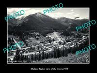 OLD LARGE HISTORIC PHOTO MULLAN IDAHO VIEW OF THE TOWN c1950 1