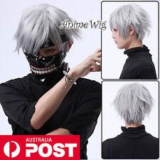 Tokyo Ghoul Kaneki Ken Dark Grey Short 30CM Cosplay Anime Layered Wig