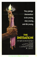 THE INITIATION MOVIE POSTER VF  1984 Folded 27x41 AWESOME JOANN DALEY  ARTWORK !
