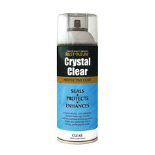 x7 Rust-Oleum Crystal Clear Multi-Purpose Spray Paint Lacquer Coat Semi-Gloss