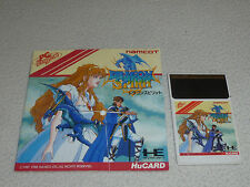PC ENGINE GAME DRAGON SPIRIT W MANUAL HE SYSTEM HU CARD NEC 1988 NAMCOT IMPORT >