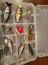 Loaded Tackle Box Fishing with baits lures 13 pc ratltrap bagley zara spook bass
