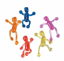 48 Sticky Tumbling Men Wall Walkers Kid's Birthday Party Favors Goody Bag
