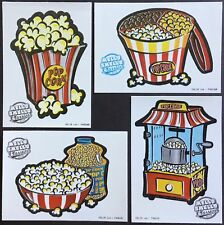 Vintage/Classic Set of 4 Mello Smello Scratch & Sniff Stickers - Popcorn
