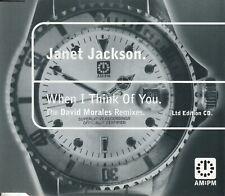JANET JACKSON WHEN I THINK OF YOU DAVID MORALES RMXS LTD ED CD A&M:PM 581 925-2