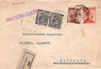 REGNO D'ITALIA - INTERESSANTE RACCOMANDATA DA ROMA A MACERATA - 1922