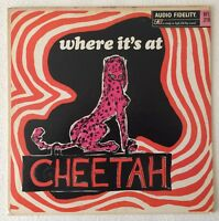 VARIOUS~WHERE IT'S AT - CHEETAH~1966 US MONO VINYL LP~AUDIO FIDELITY AFLP 2168