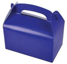 36 BLUE COLOR TREAT BOXES Birthday Party Loot Goody Bags #ST8 FREE SHIPPING