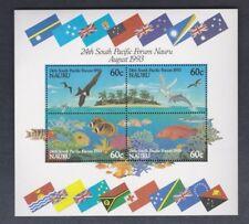 1993 Nauru Bids / Fish SG MS 414 MUH Block 4