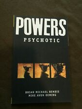 Powers Psychotic Graphic Novel Icon Comics Book Brian Michael Bendis Mike Avon