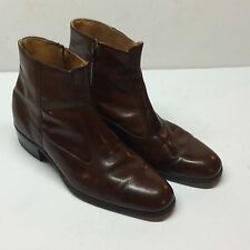 Men's Embassy Collection by Hanover All Leather Brown Ankle boots Size 10 Nice