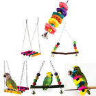 Pet Bird Parrot Parakeet Budgie Cockatiel Cage Hammock Swing Toys Hanging Toy LS