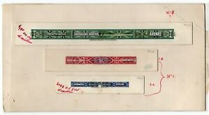 CHILE 1909 Revenue Tabacco seal Cigar Tax stamps American Bank Note Co proof USA