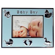 Blue Baby Boy Photo Frame Kids Children Picture Holder Gift Image Display Box