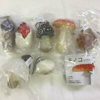 Capsule NATURE TECHNI COLOUR MONO Mushroom Strap Keychain set of 8 Capsule toy