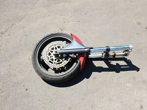 Kawasaki Zx6r W Reg Front End / Forks / Wheel / Disks