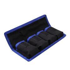Nylon Carry Case Holder Storage Bag 4 Pouch For LP-E6/8/NP-FW50/EN-EL14 Battery