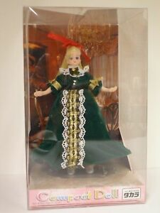 Takara (Japan) Compact Doll CDDX3 Victorian Lady in Green Velvet Gown (New NRFB)