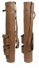 NEW REAL LEATHER GOLF BAG CLUB & BALL BAG TWO POCKETS ,HAND MADE.