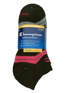 Champion Double Dry® Performance Women's 6-pack No Show Socks shoe size 5-9 NEW!