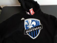MONTREAL IMPACT Soccer ADIDAS Black Logo SMALL Pullover Hoodie NEW Free Ship MLS
