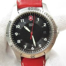 SWISS ARMY, Date/Just, Red Leather Band Swiss Made, Nice Men's WATCH, 546 L@@K!!