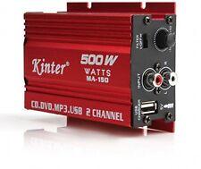 500W 2 Canales Mini Hi-Fi amplificador de AUDIO estéreo de coche eléctrico portátil Hazlo tú mismo