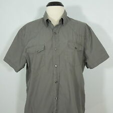 CONVERSE ONE STAR Snap Button Front Men's Shirt size L