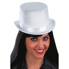 White Velvet Top Hat One Size