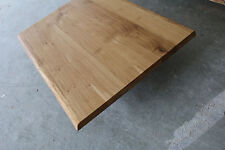 Tischplatte Platte Eiche Massiv Holz Tisch Brett Leimholz Baumkante Echtholz NEU