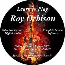 Roy Orbison Guitar TABS Lesson CD 11 Songs + Backing Tracks + BONUS!!