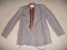 .LADIES TOP SIZE 36-BY OLIVIER STRELLI-IN GOOD COND.-LONG SLEEVED-BROWN-LOVELY