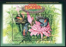 Malaysia 2002 Tropical Birds joint issue M/S MNH