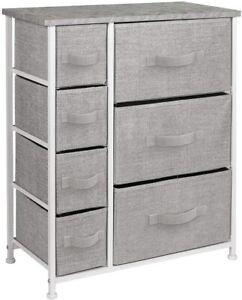 SORBUS Storage Dresser 7 Drawers Gray DRW-6D-GRY