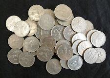 Bulk Lot Of 40 Clean UK Large Size Decimal 5p Coins For Slot Machines etc