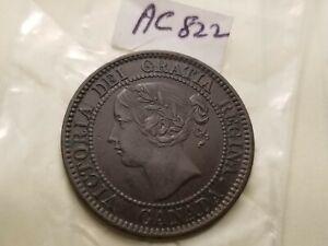 1858 Canada Large Cent High Details Rare ac822.