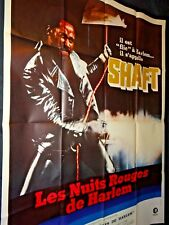 shaft  LES NUITS ROUGES DE HARLEM !  affiche cinema  blaxploitation 1971