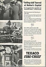 1935 TEXACO advertisement, Texaco Fire-Chief, gas pump, fire engine
