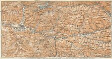 1927  VINTAGE MAP-TYROL- PUSTER VALLEY, TOBLACH,BRUNECK,