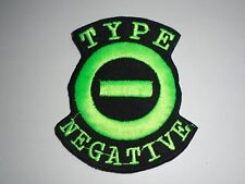 TYPE O NEGATIVE IRON ON EMBROIDERED PATCH