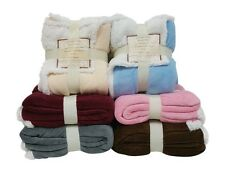 Reversible Sherpa Microplush Throw Blanket 50x60 NEW