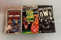 WCW VHS Wrestling Tapes Lot  WWF WWE ECW