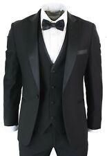 Men Black Suits Tuxedo Dinner Suit 3 Piece Wedding Prom Dinner Party Wear Suits